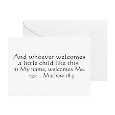 Mathew 18:5 Greeting Cards (Pk of 10)