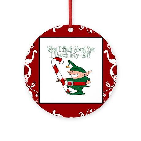 Naughty Elf Ornament (Round)