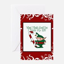 Naughty Elf Greeting Card