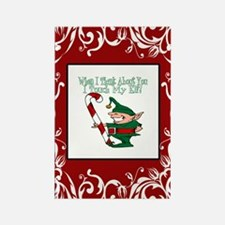 Naughty Elf Rectangle Magnet