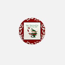 Naughty Elf Mini Button