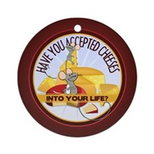 Accept Cheeses Ornament (Round)