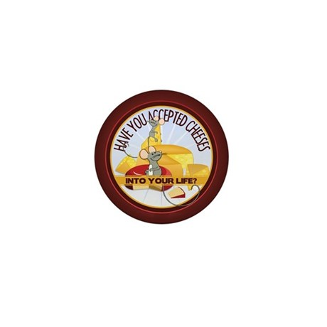 Accept Cheeses Mini Button (100 pack)