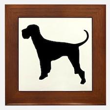 Dog Giant Schnauzer Framed Tile