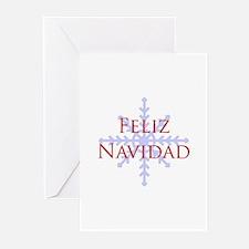 Feliz Navidad Snowflake Greeting Cards (Pk of 10)