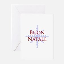 Buon Natale Snowflake Greeting Cards (Pk of 10)