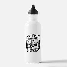 Retro Artist Sports Water Bottle