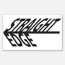 Straight Edge Sticker (Rectangular)