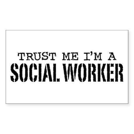 Social Worker Sticker (Rectangle)