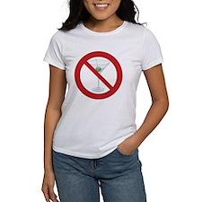 "Sober Living T-Shirt, Women's: ""No Hard Liquor"""