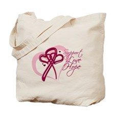 Myeloma Support Love Hope Tote Bag