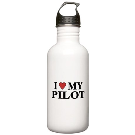 I Love My Pilot Stainless Water Bottle 1.0L