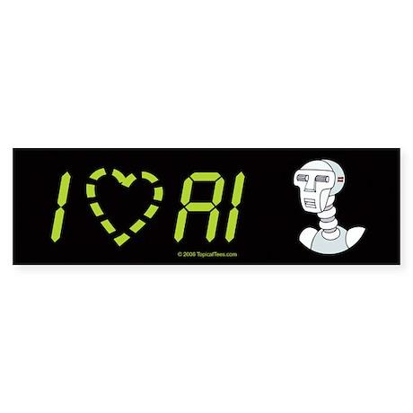 I [heart] AI Sticker (Bumper)