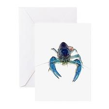 Blue Crayfish Greeting Cards (Pk of 20)
