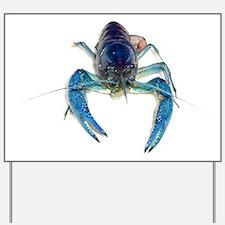 Blue Crayfish Yard Sign