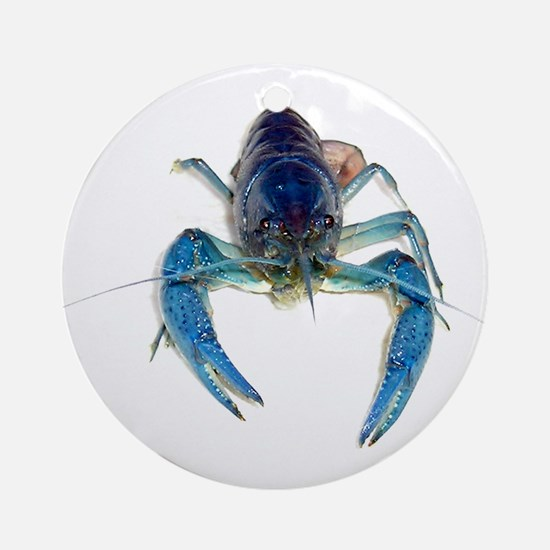 Blue Crayfish Ornament (Round)