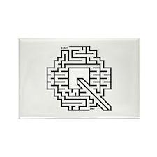 Letter Q Maze Rectangle Magnet (100 pack)