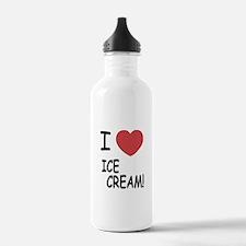 I heart ice cream Water Bottle