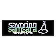 Savoring Samsara wide sticker