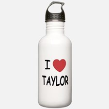 I heart taylor Water Bottle