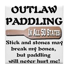 Outlaw Paddling Tile Coaster