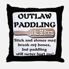 Outlaw Paddling Throw Pillow