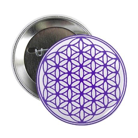 "Flower of Life 2.25"" Button"