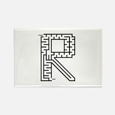 Letter R Maze Rectangle Magnet