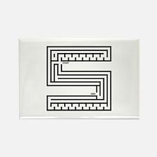 Letter S Maze Rectangle Magnet