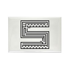 Letter S Maze Rectangle Magnet (100 pack)