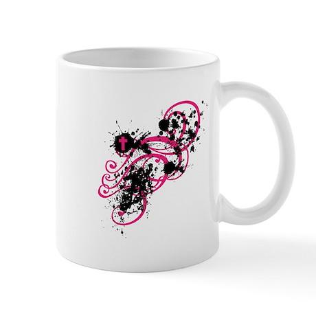 Pink/Black Cross Mug