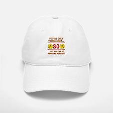Immature 80th Birthday Baseball Baseball Cap