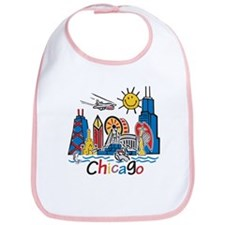 Chicago Cute Kids Skyline Bib