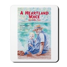 "cover of ""A Heartland Voice"" Mousepad"