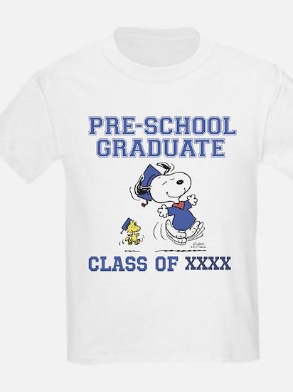 Snoopy Woodstock Pre-School Gra T-Shirt