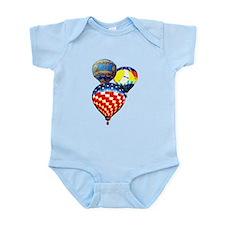 3 Hot Air Balloons Infant Bodysuit