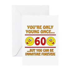 Immature 60th Birthday Greeting Card