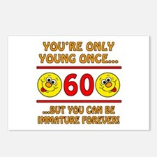 Immature 60th Birthday Postcards (Package of 8)