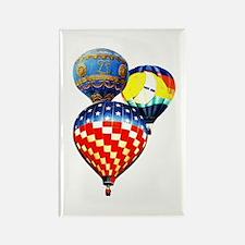 3 Hot Air Balloons Rectangle Magnet