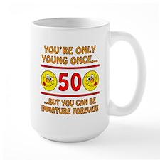 Immature 50th Birthday Mug