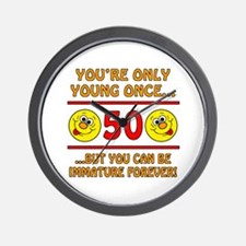 Immature 50th Birthday Wall Clock