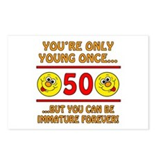 Immature 50th Birthday Postcards (Package of 8)
