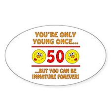 Immature 50th Birthday Decal