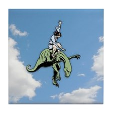 Raptor Rodeo Jesus Tile Coaster