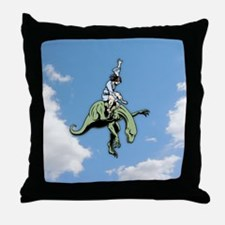 Raptor Rodeo Jesus Throw Pillow