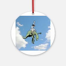 Raptor Rodeo Jesus Ornament (Round)