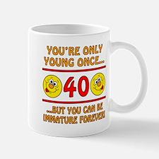 Immature 40th Birthday Mug