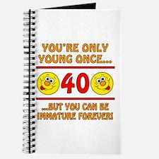Immature 40th Birthday Journal