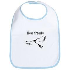 Live Freely Bib