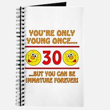 Immature 30th Birthday Journal